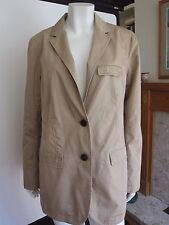LADIES SIZE LARGE GAP BEIGE COLOURED FITTED COTTON JACKET RRP £49.50