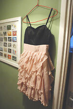 H&M PROM DANCE COCKTAIL DRESS BLACK PINK NUDE 8 STRICTLY TANGO BALL PARTY