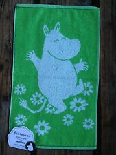 Moomin hand / guest towel, 30x50cm, Finlayson, from Finland, green white cotton