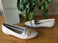 Ladies Carvela Kurt Geiger Melissa nude patent flat shoes UK 6 EU 39 New RRP £65