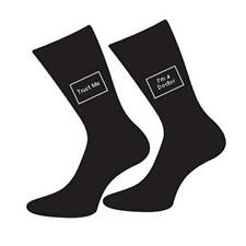 Mens 5-12 Black Cotton Socks Doctor Joke - Trust Me I'm A Doctor