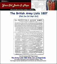 British Army Lists 1807 Monthly Editions - Feb Jun Jul Sept Oct CDROM