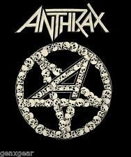 ANTHRAX cd lgo PENTAGRAM SKULLS Official Black SHIRT MED new