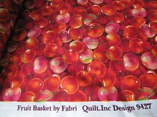 QUILT FABRIC  CHERRIES  FRUIT BASKIT BY FABRI QUILT.INC DESIGN  9427 NEW  RED