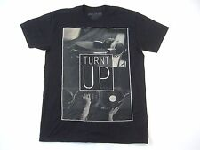 RING OF FIRE BLACK LARGE TURNT UP MUSIC DJ PHOTOGRAPHY ART TSHIRT MENS NWT NEW