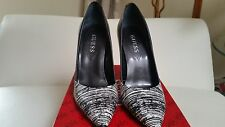 GUESS BLACK WHITE MULTI LEATHER PUMP SHOES SIZE 6, POINTED TOE, IN A BOX, NEW