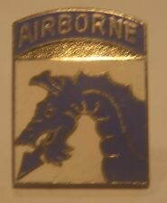 "DI Crest hat lapel Pin ""Airborne"" blue dragon"