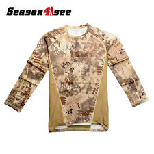 XL size Camouflage Moisture Wicking Military  Long-sleeve T-shirt Banshee Camo