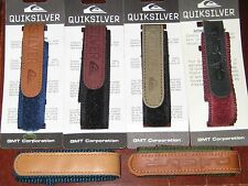 BRAND NEW QUICKSILVER WATERPROOF NYLON, LEATHER WRAP A ROUND WATCH STRAPS