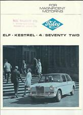 BMC RILEY ELF, KESTREL AND 4/SEVENTY TWO SALES BROCHURE NOVEMBER 1967 FOR 1968