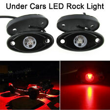 4x Red Offroad Truck SUV Underbody Glow Light Lamp Tail Light Fit Land Rover