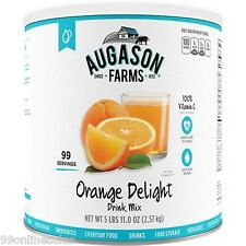 Augason Farms Orange Delight Juice Drink Mix Emergency Survival Camping RV Food