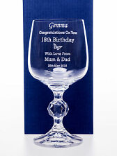 Engraved BIRTHDAY BUTTERFLY Claudia Wine Glass Gift For Mum/Nan 60th/65th/70th