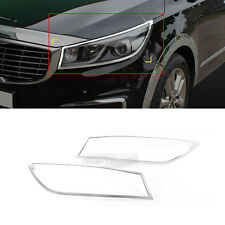 Chorme Head Light Lamp Cover Molding Trim K972 for KIA 2015-2017 Carnival Sedona