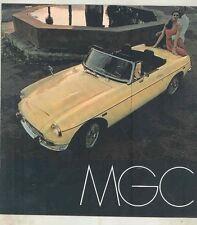 1969 MG MGC Brochure ww1532
