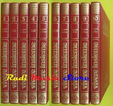 book libro VIVERE INSIEME guida pratica completa 10 volumi WALKOVER 1983