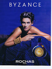 "PUBLICITE ADVERTISING 064 1990 ROCHAS ""Byzance"""