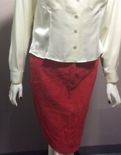 Tibor Leather Skirt RED Color Size 10 NEW WITHOUT TAGS NWT