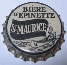 ST.MAURICE BIERE D'EPINETTE (SPRUCE BEER) SODA BOTTLE CAP; CANADA; UNUSED CORK