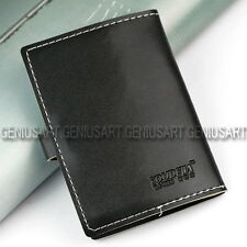 Porta Carta di Credito Portafoglio Nero 110x78mm 20 Carte Borsello Pelle Finta