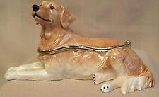 JULIANA TREASURED TRINKETS GOLDEN RETRIEVER GUNDOG DOG TRINKET BOX 15432