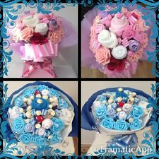 BABY REGALO CESTO calzino BOUQUET e vestiti Eleganti HAND MADE WITH LOVE
