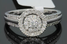 10K WHITE GOLD .55 CARAT WOMEN REAL DIAMOND ENGAGEMENT RING WEDDING RING BRIDAL