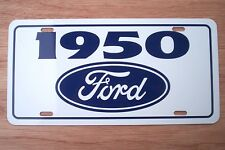 1950 Ford License plate tag 50 Custom DeLuxe Club Coupe F-1 PickupTruck Hot Rod