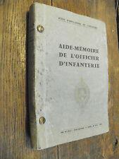 Aide mémoire de l'officier d'infanterie école d'application de l'infanterie 1959