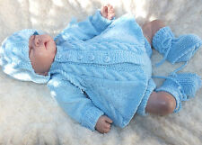 KNITTING PATTERN TO MAKE *WEDNESDAY'S CHILD* CABLE SET FOR BABY OR REBORN DOLL