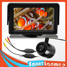 "Wireless Car Reversing Camera Waterproof & 4.3"" TFT LCD Monitor Rear View KIT"