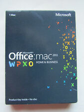 Microsoft office for mac 2011 home and business word excel outlook W6F-00063 dvd