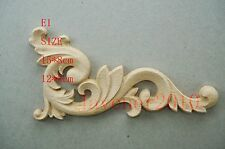 12*6cm Wood Carved Corner Onlay Applique Frame Furniture Unpainted E1 QTY.4