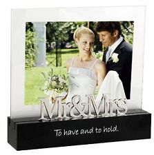 Malden Celebrated Moments Black Wood Picture Frame, Mr. and Mrs., 5 by 7-Inch ,