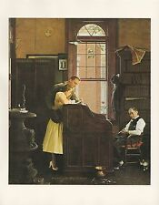 """1977 VINTAGE """"MARRIAGE LICENSE"""" NORMAN ROCKWELL MINI POSTER COLOR Art Lithograph"""
