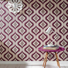 Superfresco Easy Paste the Wall Trippy Retro Print Purple Wallpaper 30-449