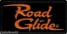 "Harley Davidson Orange & Black ""Road Glide"" Emblem Patch 4""x2"" EM1056642"