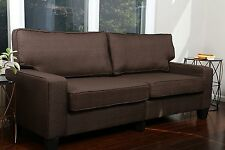 DARK BROWN Sofa Couch Love Seat College Dorm Apartment Living Room Modern 61""