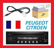Cable auxiliaire aux adaptateur mp3 pour autoradio PEUGEOT 207 12PIN RD4 - PRO