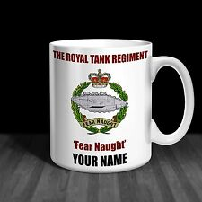 The Royal Tank Regiment RTR Personalised Ceramic Mug Army Gift