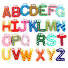 26 pcs a set Kids Educational Toy Wood Letters Alphabet Learning Fridge Magnet