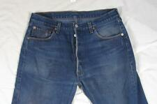 Levi 501 Button Fly Straight Leg Faded Denim Jeans Tag 36x30 Measure 35x30.5