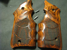 """Ruger Mark Mk IV ONLY Rosewood """"Stippled"""" FG Target Pistol Grips - Beautiful New"""