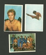 Giorgio Cagnotto Klaus Di Biasi Swimming Diving Olympic 1976 Sticker Cards Italy