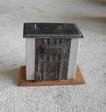 Vintage HO Scale Handmade Wood Metal Generator Shack