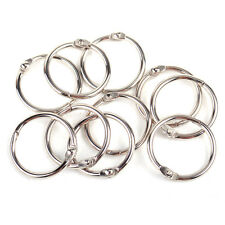 10PCS 25mm Metal Loose Leaf Book Binder Hinge Ring Snap Scrapbook Keyring DIY