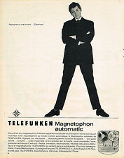 PUBLICITE ADVERTISING   1962   TELEFUNKEN   magnétophon automatic