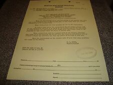 Boston and Maine Railroad Notice With Stamp April 25 1963 Time Card Requirements
