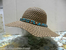SUN HAT MADE OUT OF PAPER ALWAYS SPRINGS BACK TO SHAPE BROWN