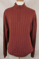 GH Bass & Co Men's 1/2 Zip Sweater. Size XXL. Dusty Orange. NWT.